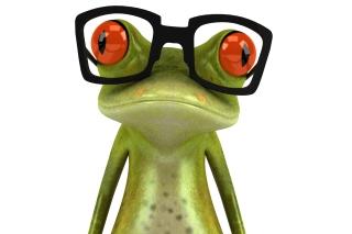3D Frog Glasses - Obrázkek zdarma pro HTC Desire 310