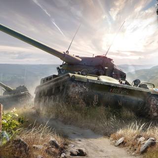 World of Tanks, French tank AMX 13 - Obrázkek zdarma pro 1024x1024
