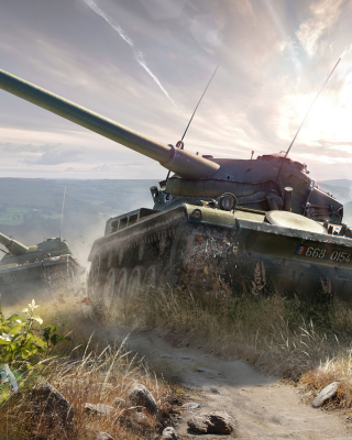 World of Tanks, French tank AMX 13 - Obrázkek zdarma pro iPhone 5S