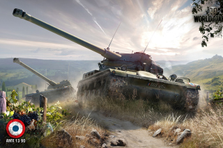 World of Tanks, French tank AMX 13 - Obrázkek zdarma pro Samsung T879 Galaxy Note