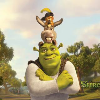 Shrek Donkey Puss In Boots - Obrázkek zdarma pro iPad mini 2
