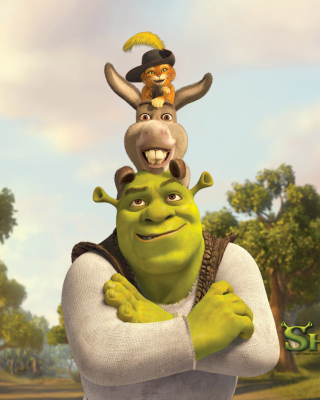 Shrek Donkey Puss In Boots - Obrázkek zdarma pro 320x480