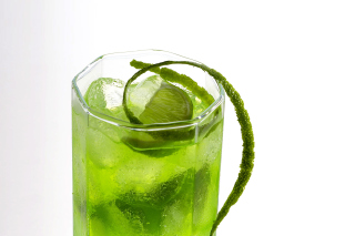 Green Cocktail with Lime - Obrázkek zdarma