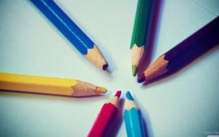 Colorful Pencils - Obrázkek zdarma pro Nokia Asha 302
