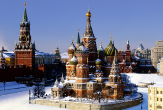 Kremlin Moscow Background for Android, iPhone and iPad