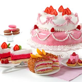 Strawberry biscuit cake - Obrázkek zdarma pro iPad