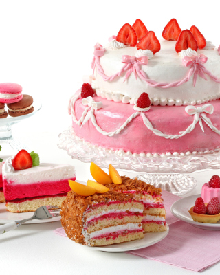 Strawberry biscuit cake - Obrázkek zdarma pro Nokia Asha 306