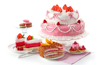 Strawberry biscuit cake - Obrázkek zdarma pro Widescreen Desktop PC 1920x1080 Full HD