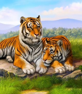 Tiger Family - Obrázkek zdarma pro Nokia Lumia 800