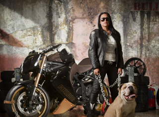 Biker Chick Wallpaper for Android, iPhone and iPad