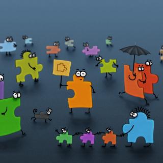 Funny Puzzle - Obrázkek zdarma pro iPad Air
