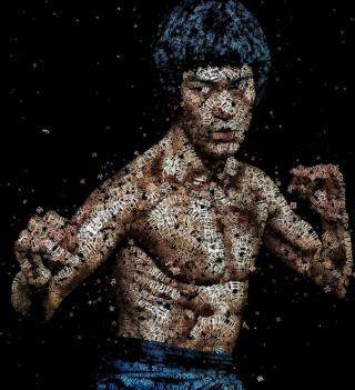 Bruce Lee Artistic Portrait - Obrázkek zdarma pro 320x320