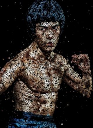 Bruce Lee Artistic Portrait - Obrázkek zdarma pro iPhone 5