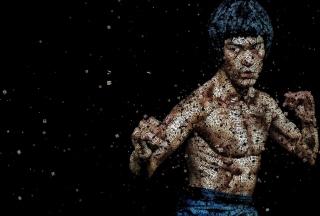 Bruce Lee Artistic Portrait - Obrázkek zdarma pro 1024x768