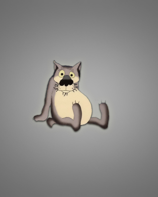 Funny Wolf - Obrázkek zdarma pro Nokia Asha 306