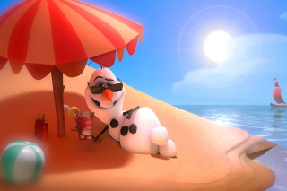 Olaf from Frozen Cartoon Wallpaper for Android, iPhone and iPad