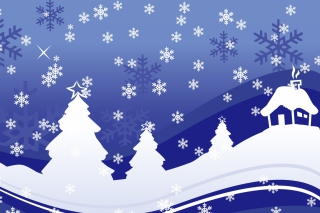 Christmas Trees Background for Android, iPhone and iPad