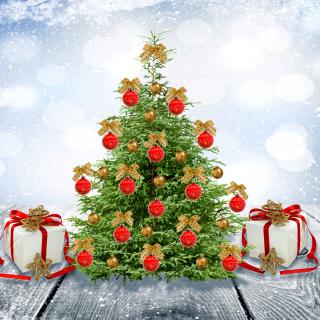 New Year Tree with Snow - Obrázkek zdarma pro iPad 2
