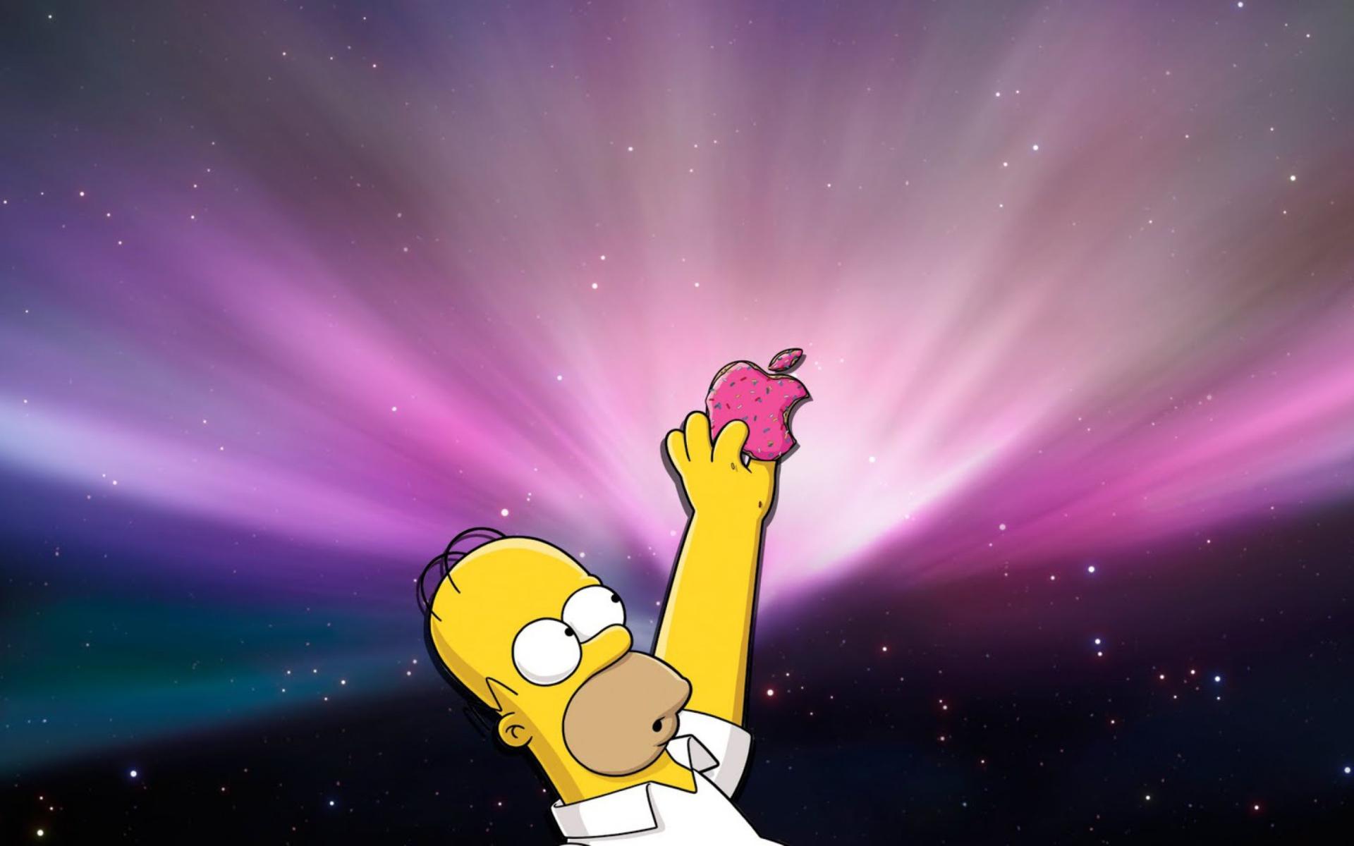Homer apple sfondi gratuiti per widescreen desktop pc for Sfondi hd per pc