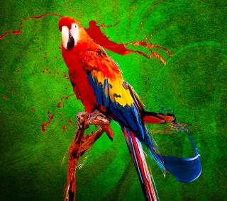 Big Parrot In Zoo - Obrázkek zdarma pro iPad 3