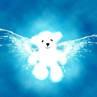 Angel Bear - Obrázkek zdarma pro iPad mini 2