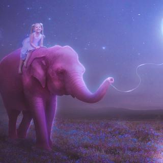 Child And Elephant - Obrázkek zdarma pro iPad mini