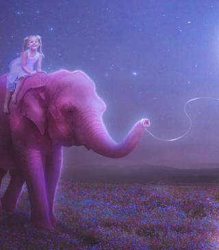 Child And Elephant - Obrázkek zdarma pro iPhone 4S