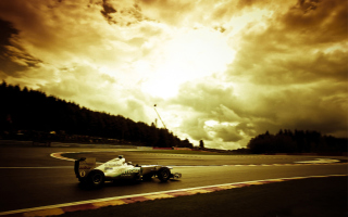 Mercedes GP F1 - Obrázkek zdarma pro Motorola DROID 2