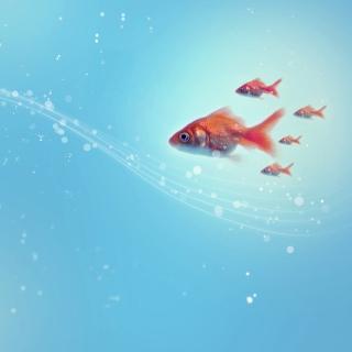 Goldfish - Obrázkek zdarma pro iPad mini