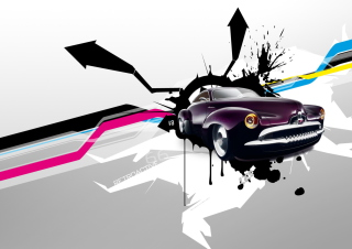 Abstract Car Background for Android, iPhone and iPad