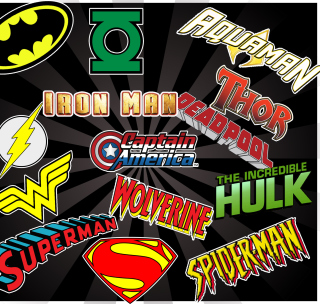 Superhero Logos - Obrázkek zdarma pro 1024x1024