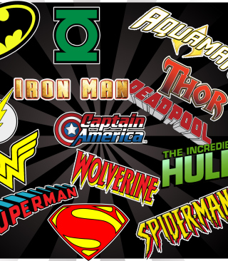 Superhero Logos - Obrázkek zdarma pro 320x480