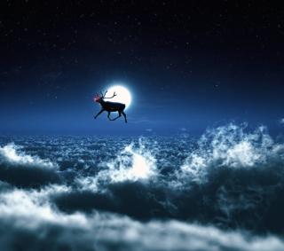 Santa's Reindeer - Obrázkek zdarma pro 208x208