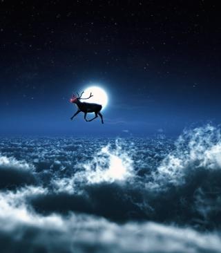 Santa's Reindeer - Obrázkek zdarma pro Nokia Asha 305