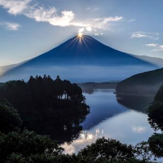 Japan, Volcano Fuji - Obrázkek zdarma pro 1024x1024