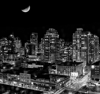 Night Canadian City - Obrázkek zdarma pro iPad mini