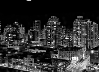 Night Canadian City - Obrázkek zdarma pro Fullscreen Desktop 1024x768