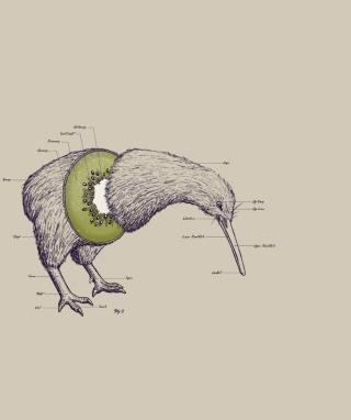 Kiwi Bird - Obrázkek zdarma pro iPhone 4S