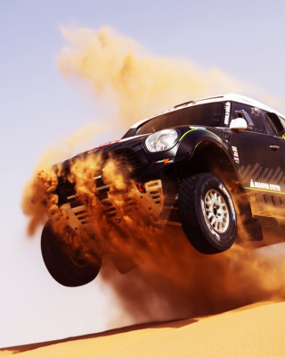 Mini Cooper Countryman Dakar Rally - Obrázkek zdarma pro Nokia C1-02
