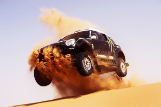Mini Cooper Countryman Dakar Rally - Obrázkek zdarma pro 1366x768