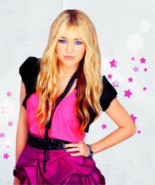 Miley Cyrus Blonde - Obrázkek zdarma pro iPhone 4