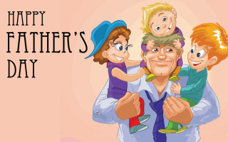 Happy Father's Day (June 3rd Sunday) Wallpaper for Android, iPhone and iPad