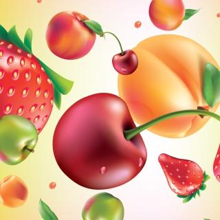 Drawn Fruit and Berries - Obrázkek zdarma pro iPad 3