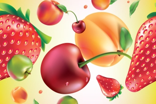 Drawn Fruit and Berries - Obrázkek zdarma pro Widescreen Desktop PC 1680x1050