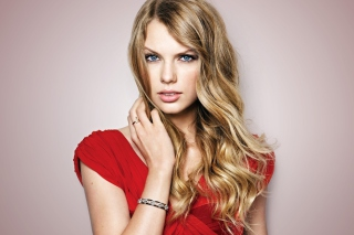 Taylor Swift Red Dress Picture for Android, iPhone and iPad