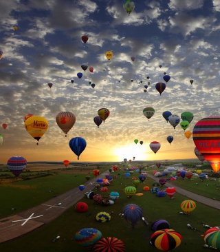 Air Balloons - Obrázkek zdarma pro Nokia Asha 300