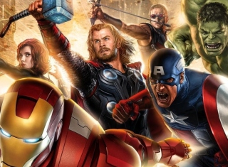 Avengers 2014 - Obrázkek zdarma pro Samsung Galaxy Ace 4