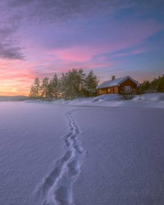 Footprints on snow - Obrázkek zdarma pro Nokia Lumia 928