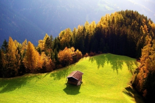 House On Top Of Green Hill - Fondos de pantalla gratis para Sony Ericsson XPERIA PLAY
