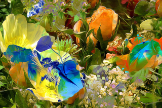 Stylized Summer Drawn Flowers - Obrázkek zdarma pro Widescreen Desktop PC 1920x1080 Full HD